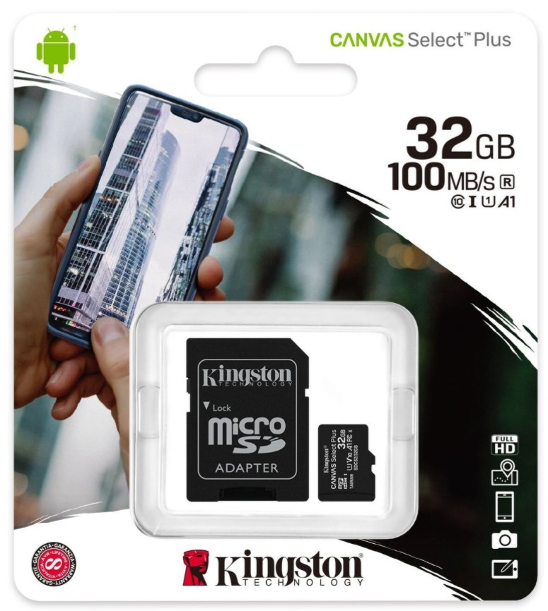 Карта памяти Kingston microSDHC, Class 10, 32 Gb